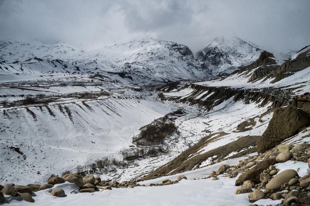 15 Mustang Snow Landscape Photograph