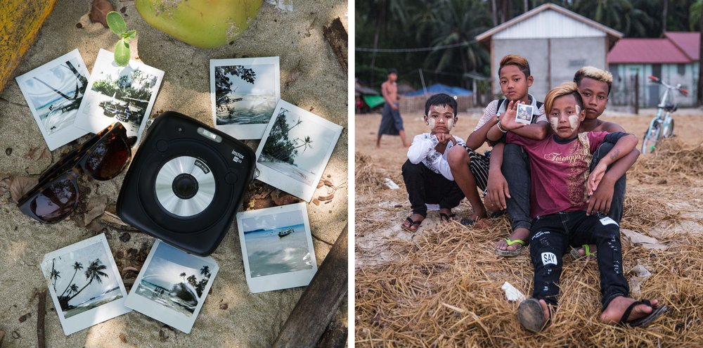 Myanmar instax Ngapali travel photography 1