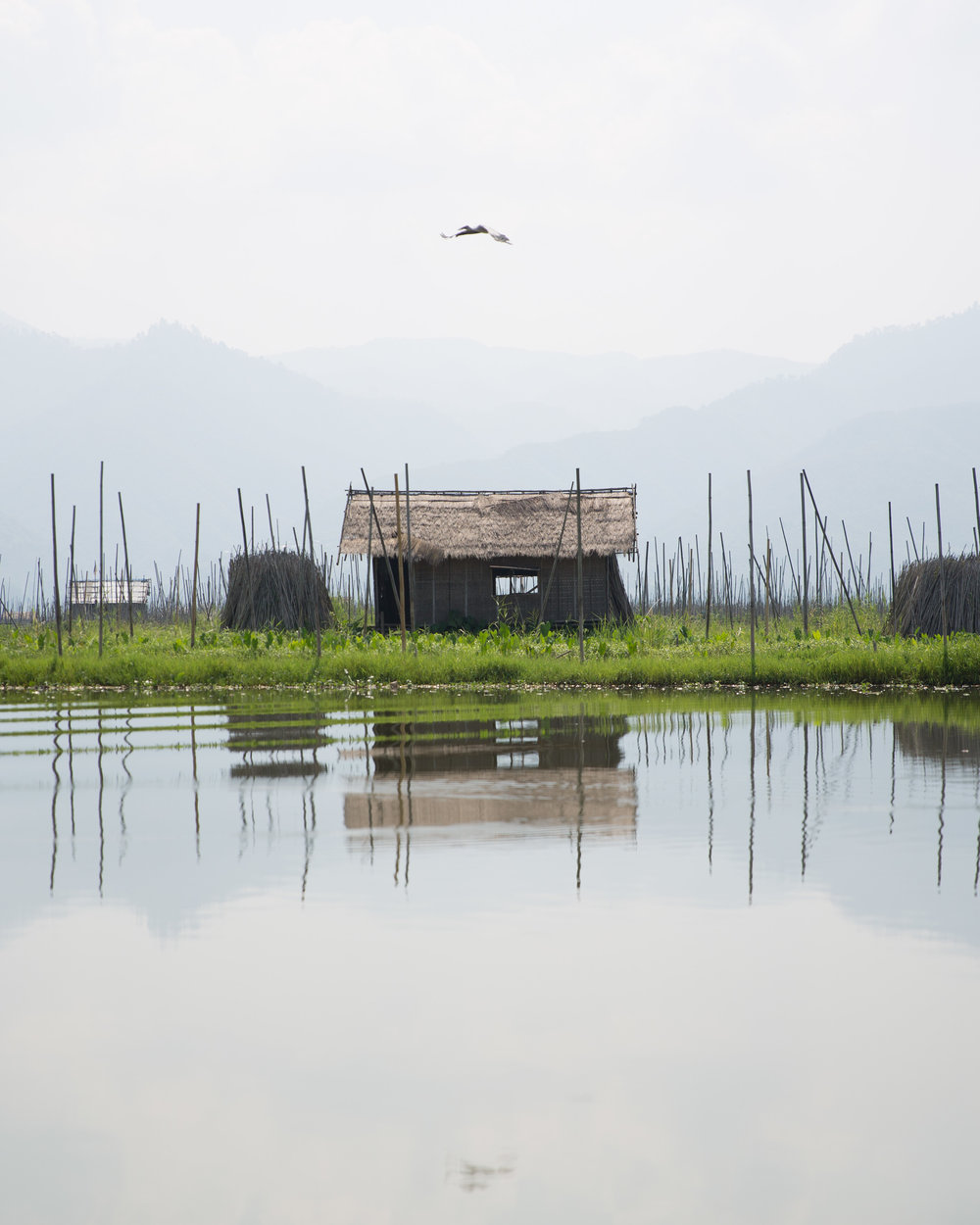 Inle Lake reflections Travel Photography