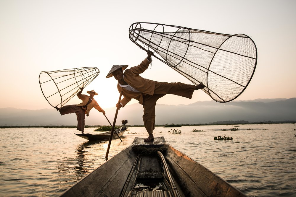 inle travel photography fishermen 1
