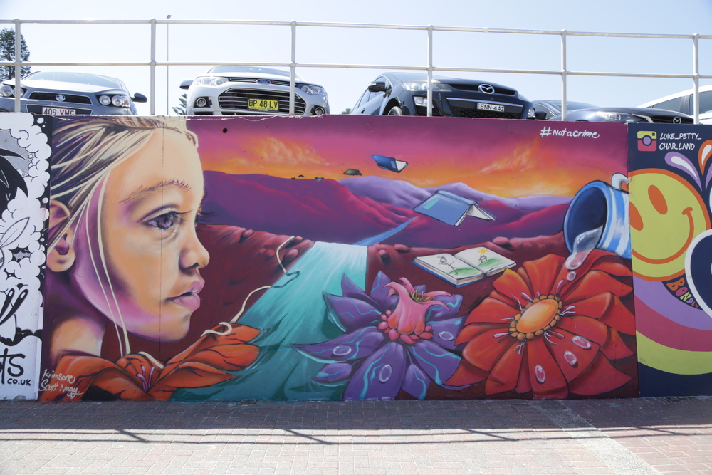 The Australian duo Krimsone & Scott Nagy's latest mural on Bondi Beach.