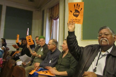 Advocacy at city council budget hearings