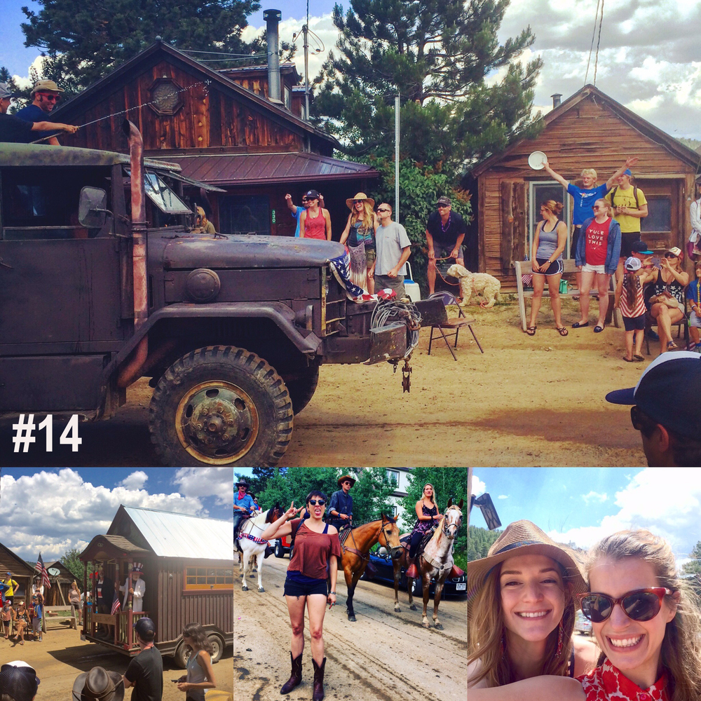 #14. And the 4th of July parade in Gold hill, Colorado followed by blue grass music at the inn.