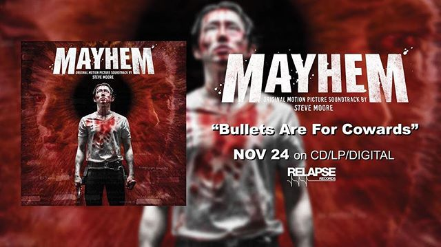 New Soundtrack for Mayhem out by Steve Moore!! This flick and the score are awesome!! . . . . . . . . . . . . . . . . . . . #LettheArtistShine #ILoveLA #soundtrack #filmforever #filmmaker #horror #horrorfilm #horrorfilmmaker #horrormovies #ilovehorror #ilovemovies #indiefilm #instadaily #instagood  #movielover #moviemakers #photooftheday #composers #composerlife #stevenyeun #stevemoore #photooftheday #instagood #instalove #instadaily #mayhem