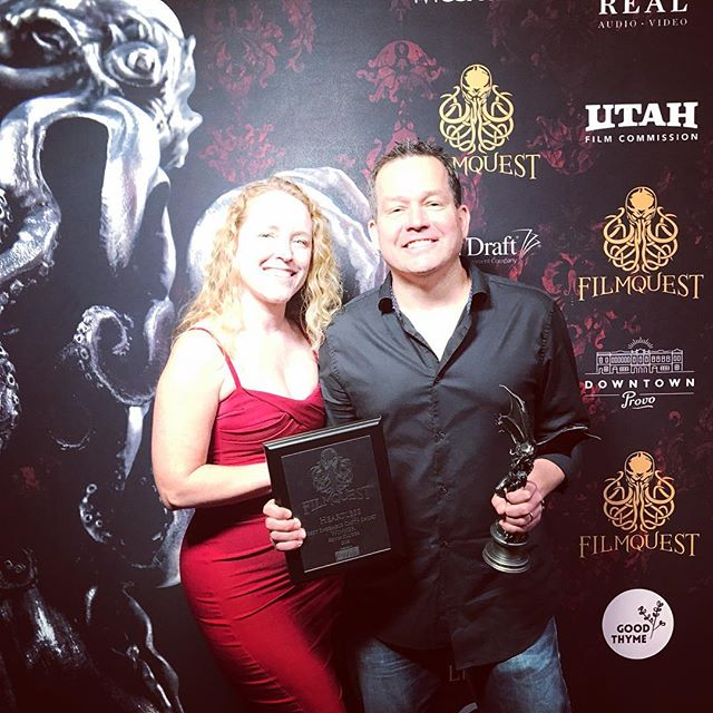 Amazing festival, incredible genre films, blown away we won two awards for Best Screenplay and Best Ensemble Cast with @heartless_movie!  Thank you Jonathan and Jonna!! #filmquest2018 #sunshineboyproductions #redcarpet