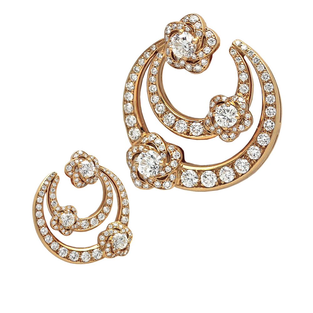 A pair of Bulgari Gold & Diamond Earclips.