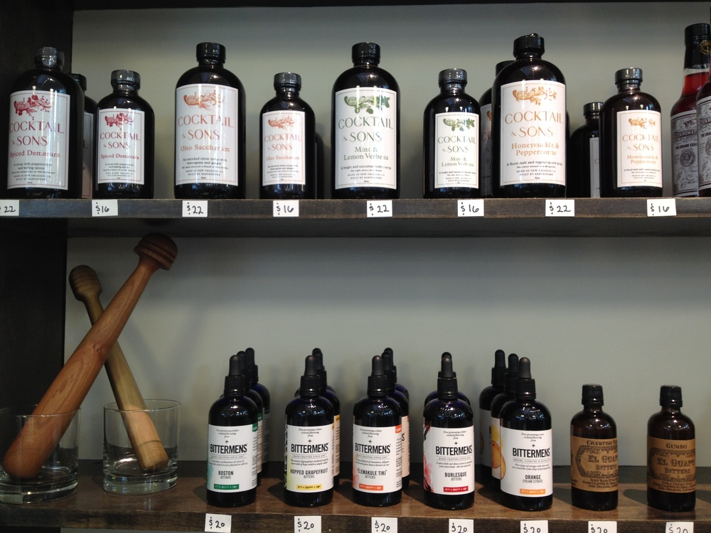 A SELECTION OF BITTERS AND MUDDLERS