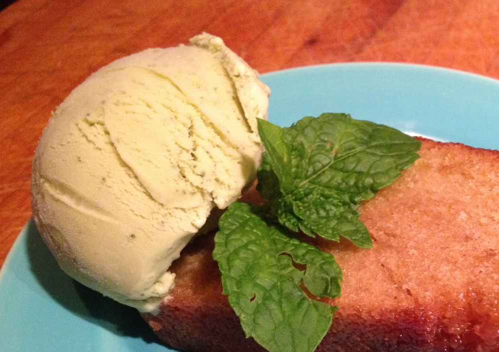 HOMEMADE MINT ICE CREAM WITH MAIALINO'S OLIVE OIL CAKE (https://food52.com/recipes/26709-maialino-s-olive-oil-cake)