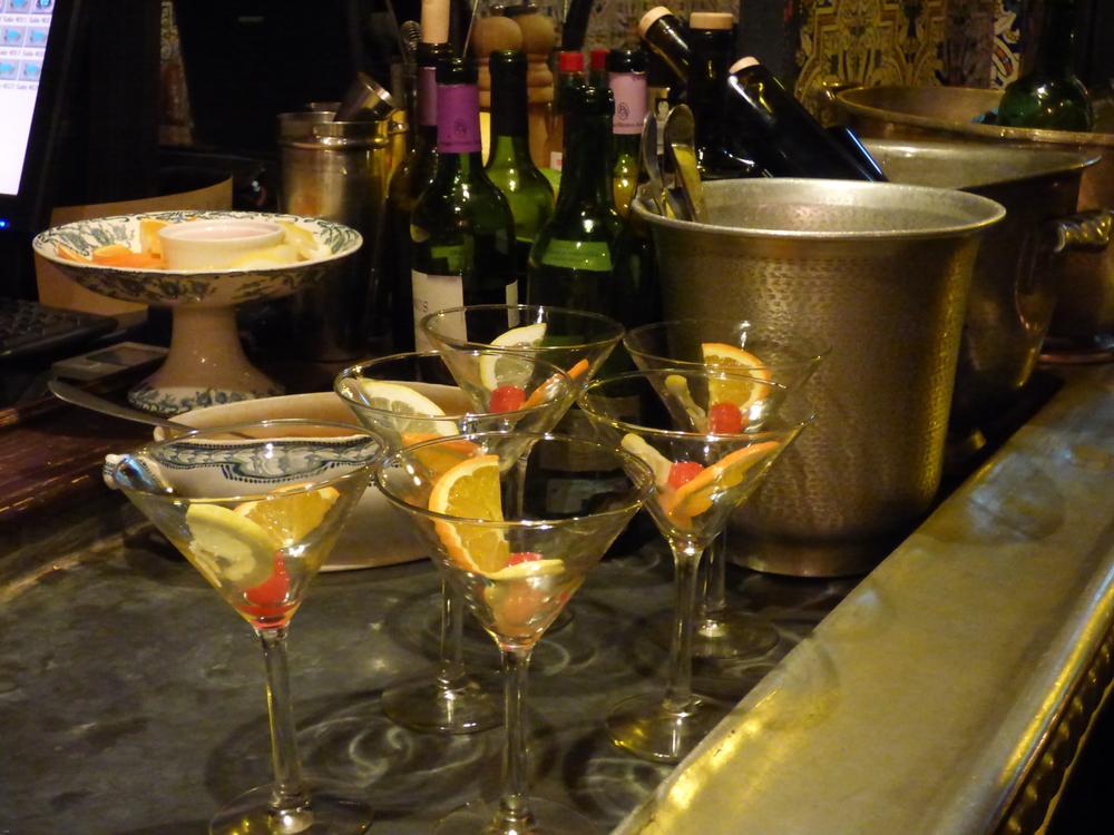 COCKTAIL GLASSES PREPPED FOR VERMOUTH GREET YOU AT LA TABERNA CARMENCITA