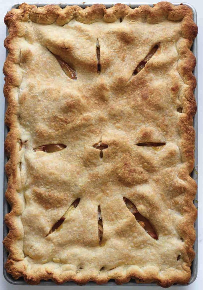 Martha Stewart's Peach Slab Pie (http://www.marthastewart.com/1122882/peach-slab-pie)