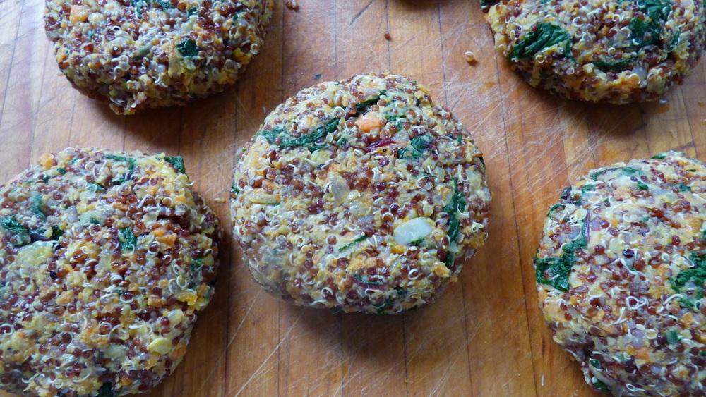 Quinoa and Greens Burgers