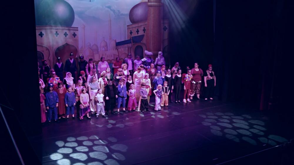 Aladdin at Corn Exchange  Client - Lavender Hill Mob Theatre Company  Country -United Kingdom