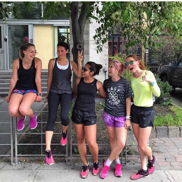 L to R: Paulina, moi,  Meghan Young ,  Alyssa Garrison ,  Mel Hetu