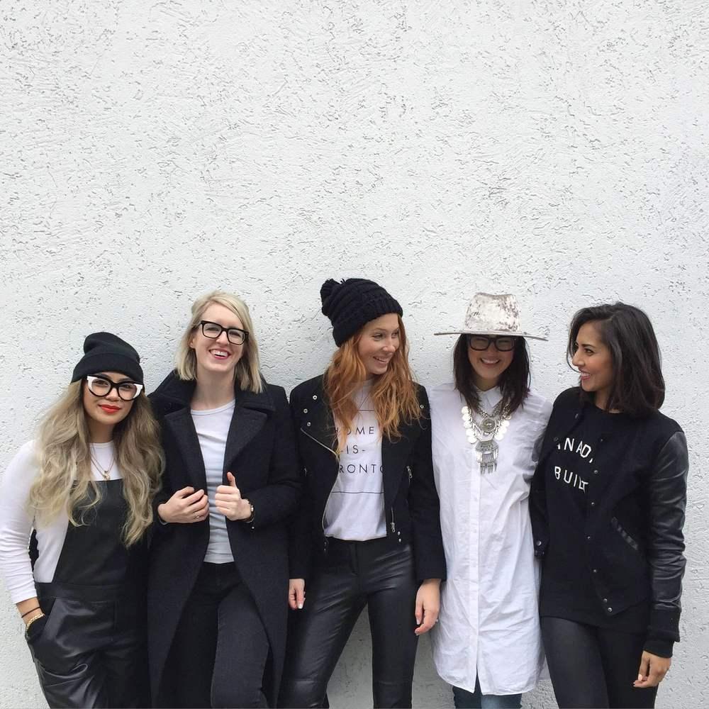 Christina ,  Lauren ,  Mel , moi,  Meghan