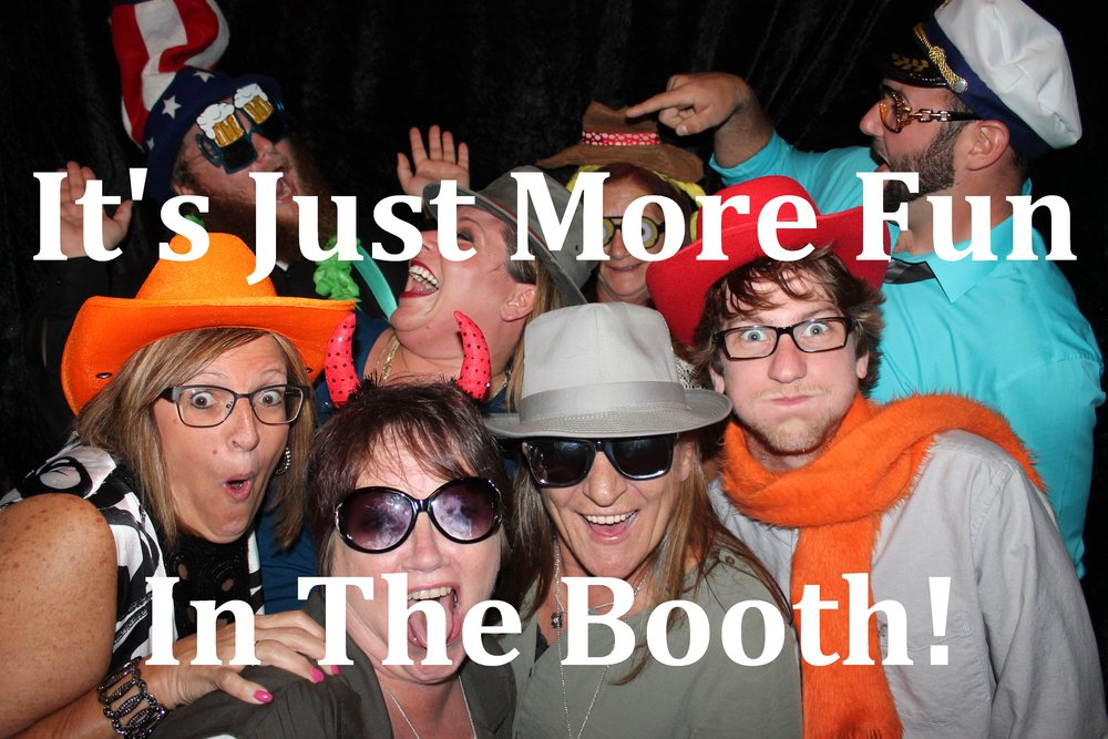 Lots of friends in a stand-up style photo booth