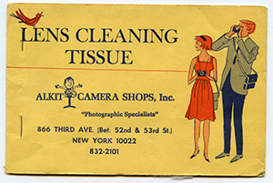vintage alkit-branded promo lens cleaning tissue