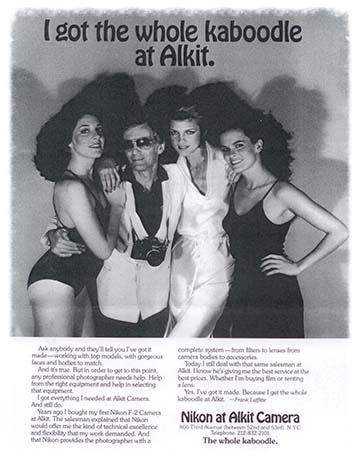 VINTAGE ALKIT/NIKON PRINT-AD, CIRCA 1980