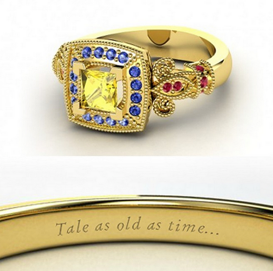Belle wedding ring