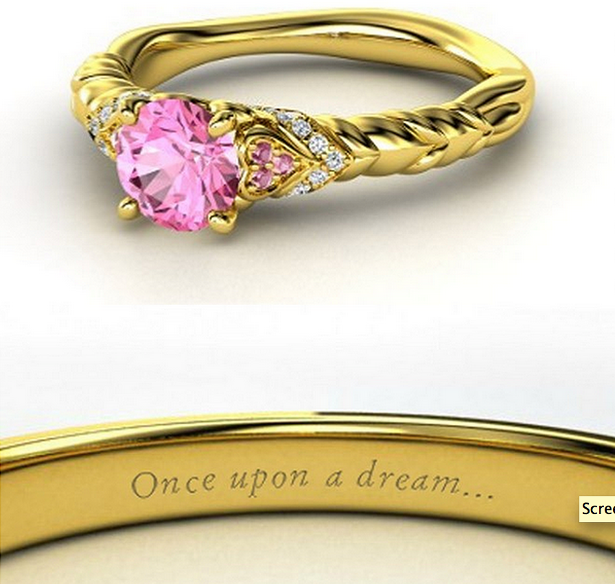Sleeping Beauty wedding ring