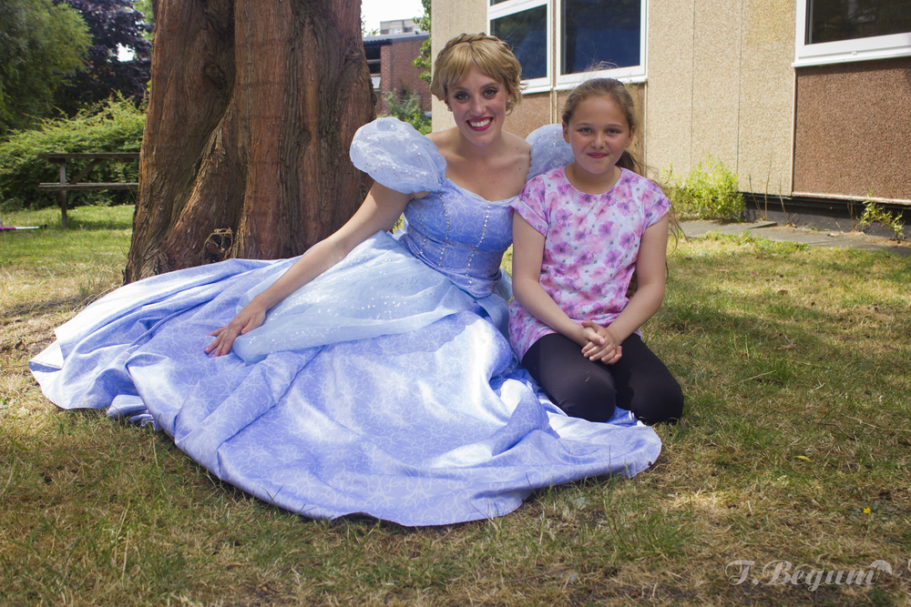 little princess with cinderella