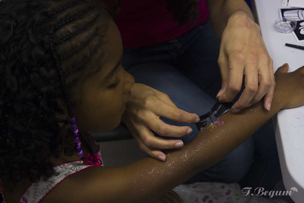 glitter tattoo time