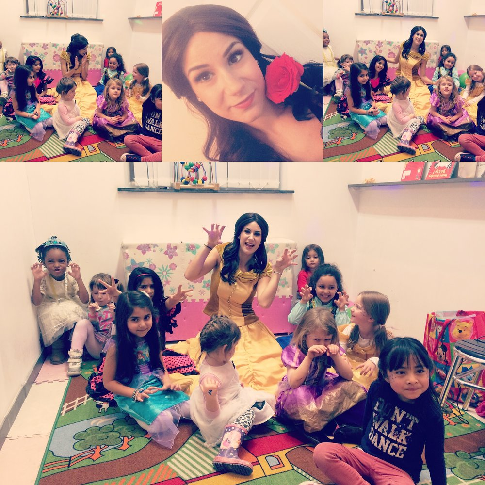 A wonderful morning of games and songs with princess Belle at the  Slate Cafe