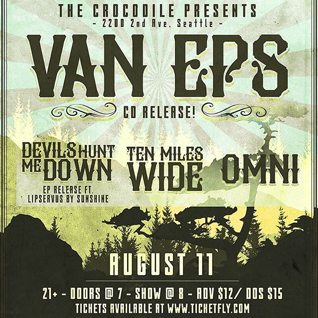 Unleashing the second EP next Fri Aug 11 at @thecrocodileseattle with @rockvaneps @tenmileswide206 and Omni!! #seattlemusicscene #localmusic #cascadiandirtrock #marcobassfamily @marcobassguitars #livemusic #showposterdesign #concertposter
