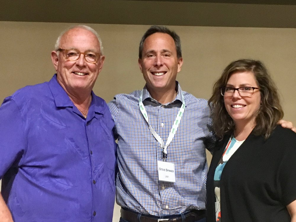From left:  Mark Retzloff, Cofounder, Alfalfa's Market; UNFI Chair Steve Spinner; and Carlotta Mast, SVP of Content, New Hope Network, and President, Naturally Boulder.