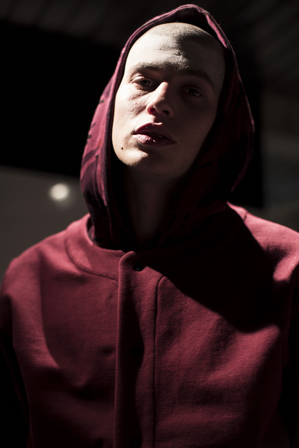 London Collections LCM-Maharishi-Burgundy Hoodie Autumn Winter 2016 Lillie Eiger.png