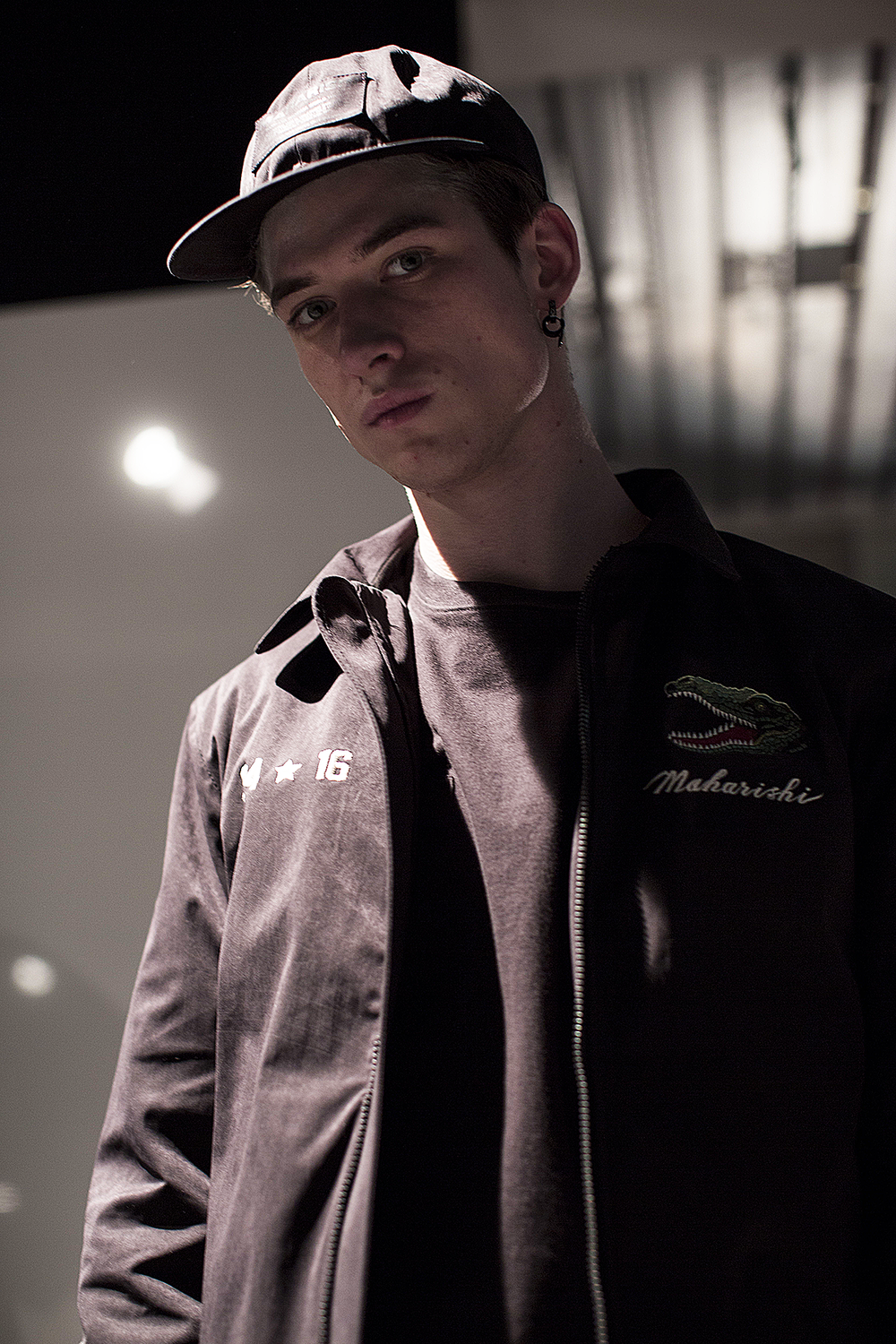 London Collections LCM-Maharishi-Black Cap Autumn Winter 2016 Lillie Eiger.png