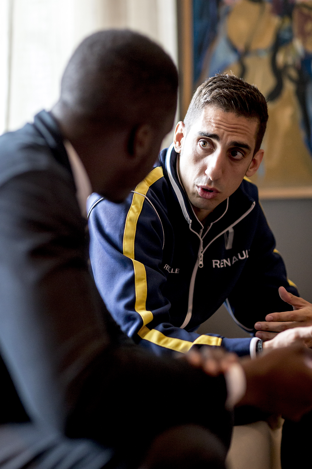 Sebastian Buemi Formula E Interview The Samsonian Eli Ankutse London Battersea.png