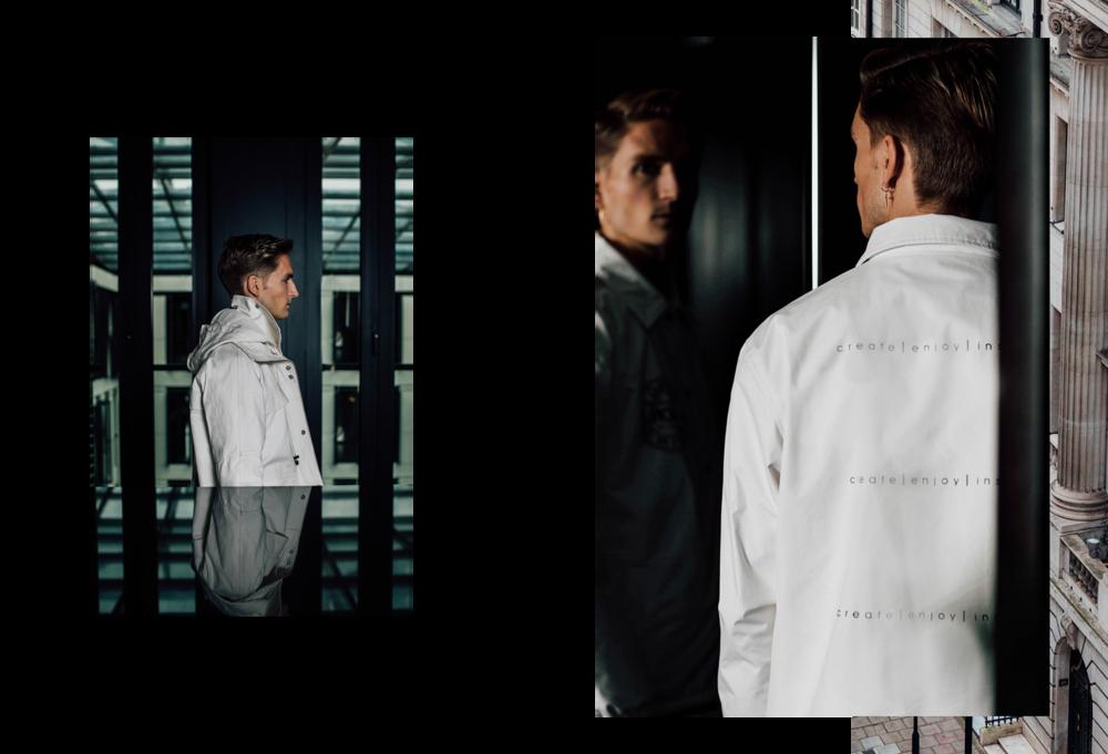 Left |Parka jacket by TOURNE DE TRANSMISSION Right |Coach jacket bySERGE DENIMES