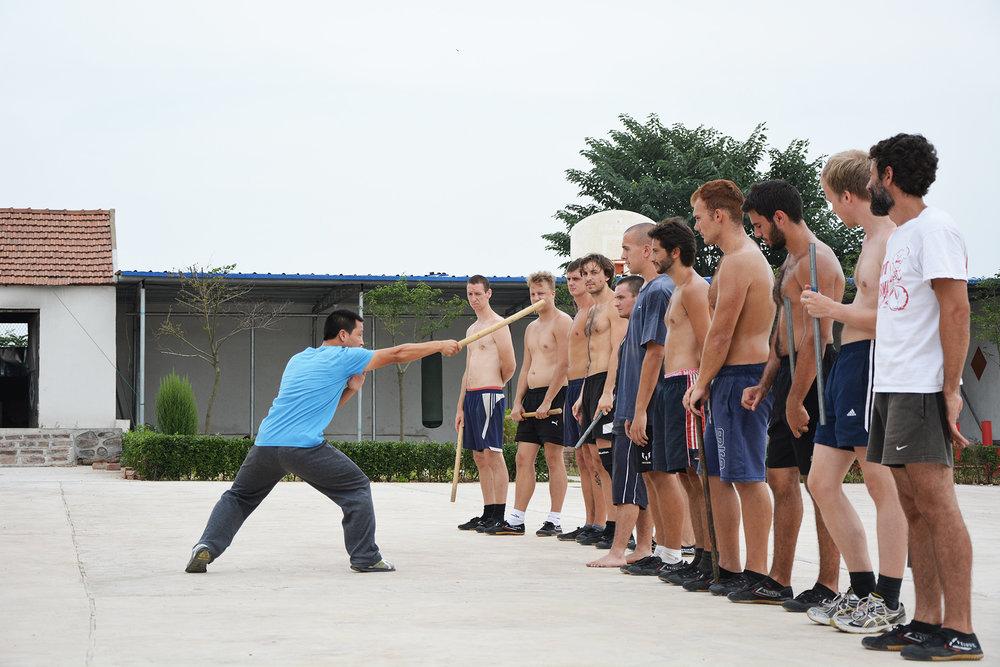 The Shaolin Monk Master Du training students The SAMSONIAN.jpg