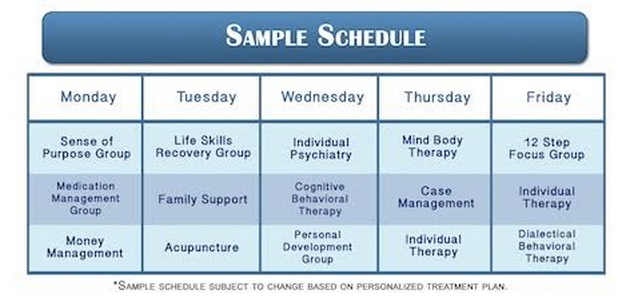 Sample Schedule — The Control Center