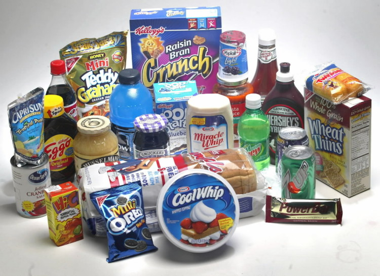 Some processed foods containing HFCS