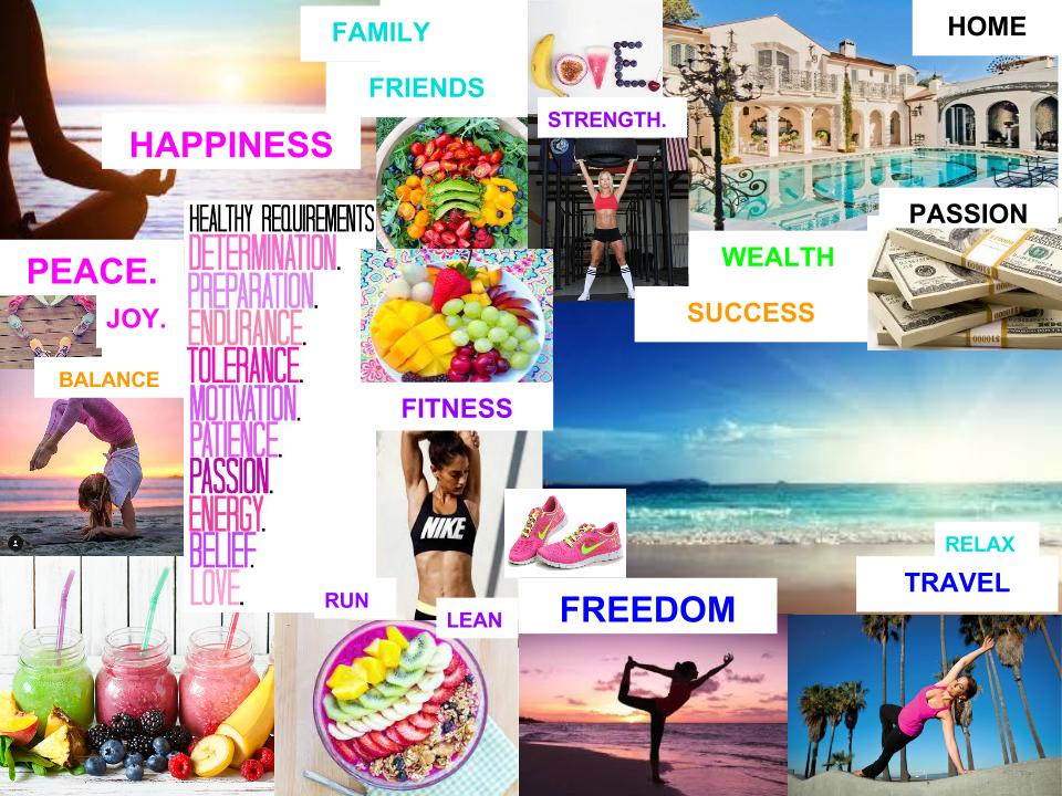 CREATE YOUR VISION:  AN EXAMPLE OF A VISION BOARD