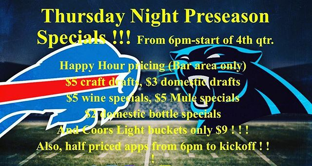 Game day specials.... #gobills #juicycrew