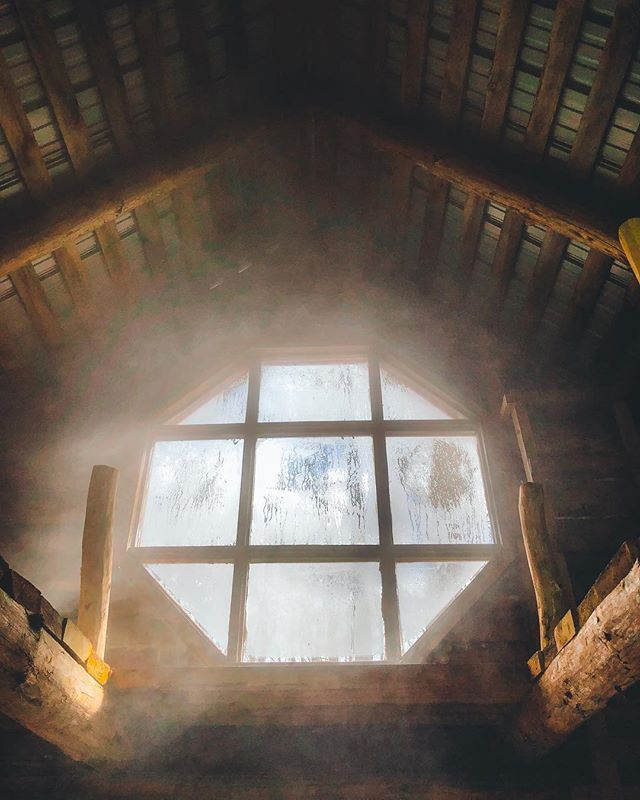 ...and sweet steam from the boiling maple sap wafting about the rafters... @tetherloopfarm