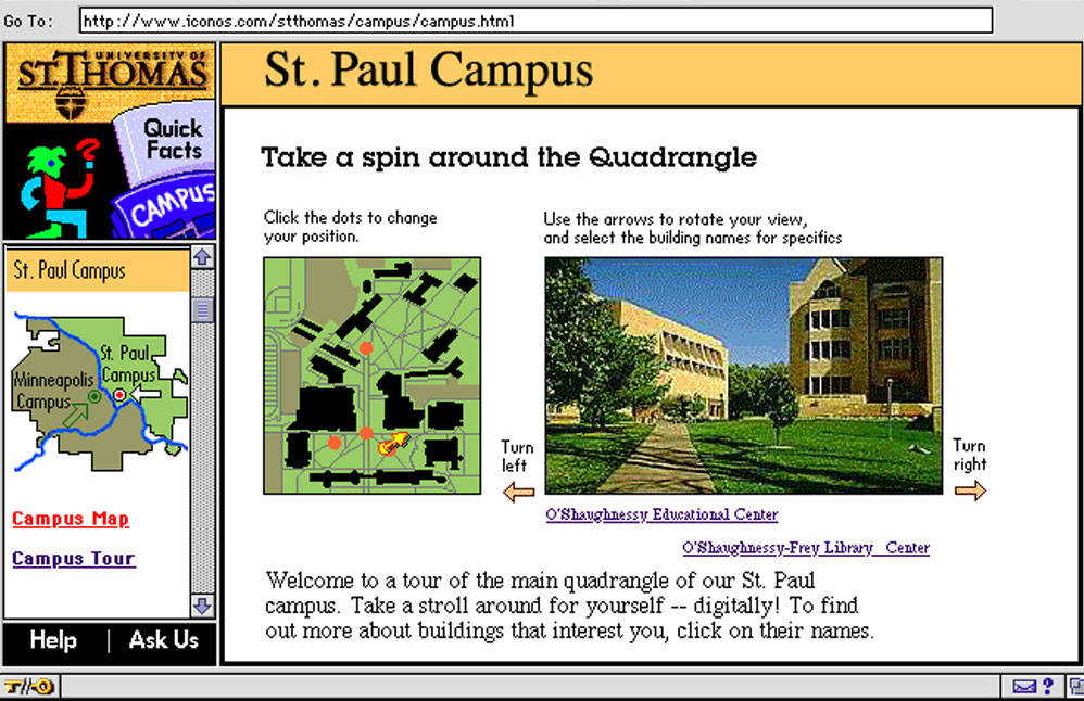 The companion web site was integrated with the CD-ROM. It modeled features that successive sites build upon.