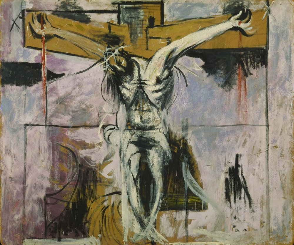 Study for Crucifixion by Graham Sutherland, 1947. Oil on canvas. Vatican Museum, Rome.
