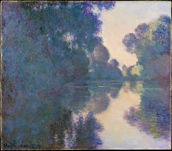 Morning on the Seine near Giverny; Claude Monet, 1897; oil on canvas; The Met, New York.