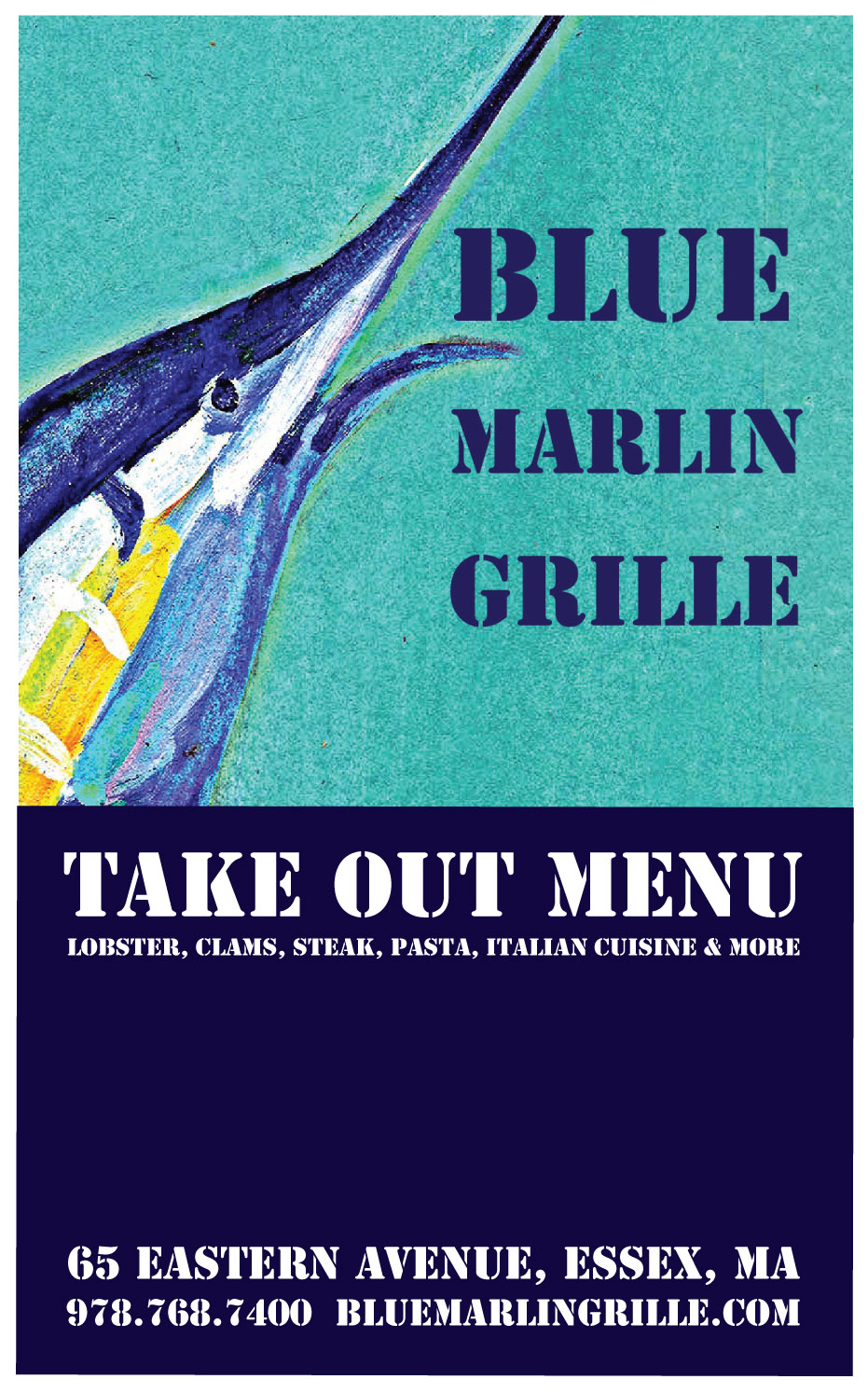 Blue Marlin Grille Take Out Menu