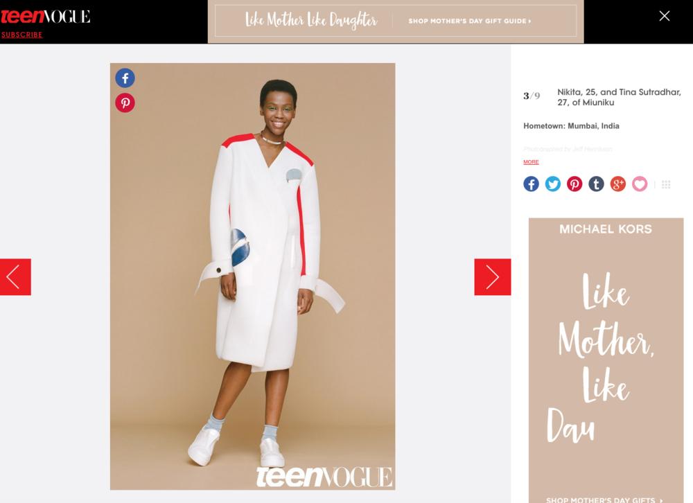 Teen Vogue online