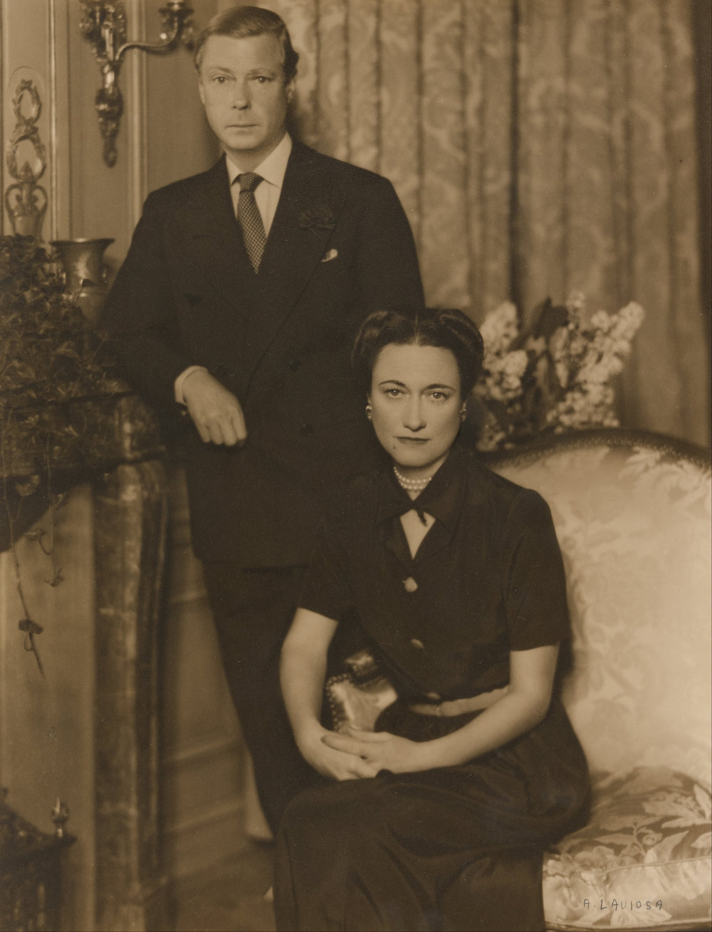 The future Edward VIII as Prince of Wales with Wallis Simpson, taken by Vincenzo Laviosa, ca. 1934.