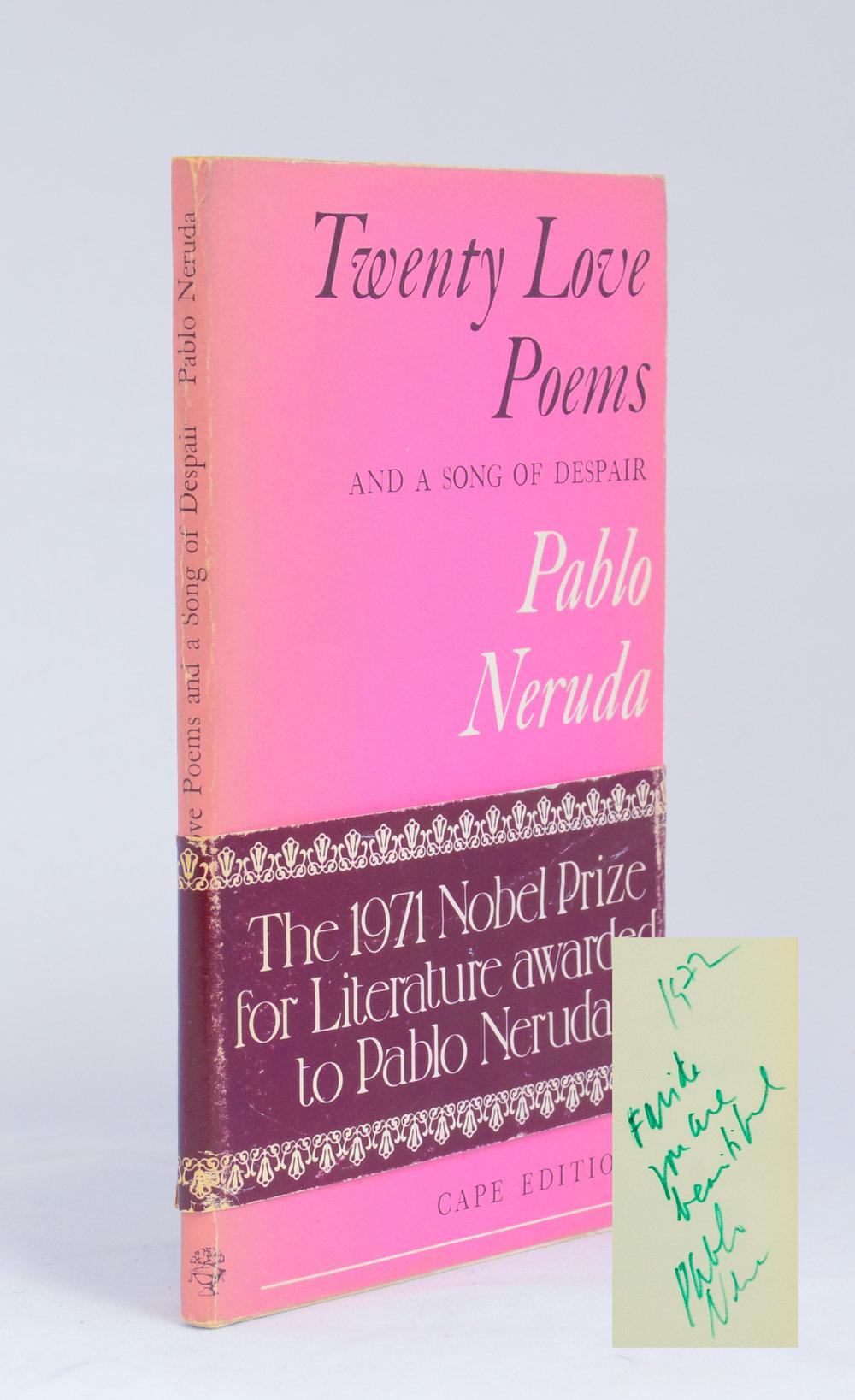 Neruda. Twenty Love Poems. Inscribed