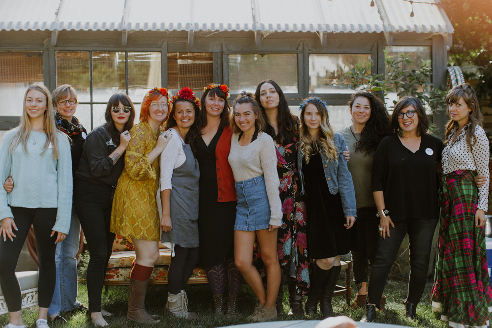 Sophia, Gillian, Lili, Candace, Michelle, Bonnie, Brook, Felicia, Gigi, Christina, Stella, Chelsea.   Poets, card readers, carvers, soapmakers, bakers, artists,  curators, handcrafters, writers and painters. The makers of Cosmic Gathering magic.