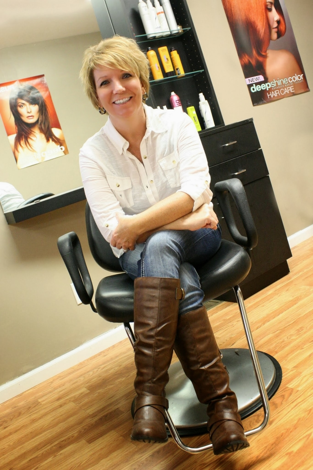 Becky Owner/Stylist/Electrologist Becky has been with the salon 18 years. She is a color specialist. Ready to create color, shine & texture that makes your hair look and feel its best! She is also licensed & experienced at permanent hair removal. She is available by appointment Mondays 9am-8pm; Tuesday 9am-8pm; Thursday 9am-6pm & Saturday 8am-1pm.