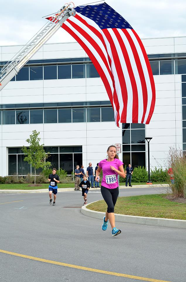Running by the Global Foundries plant at the 2014 Malta 5K.