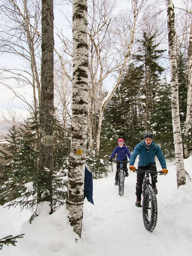 Henry's Woods in Lake Placid with Colin Delaney and Caitlin Skufca.  High Peaks Cyclery