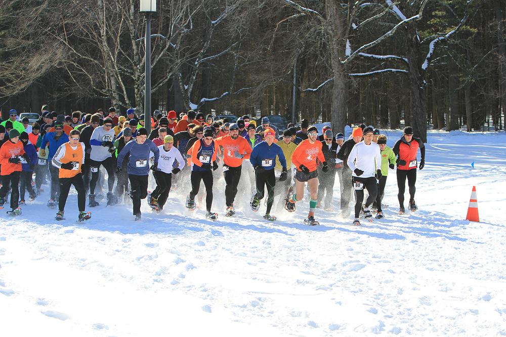 Start of the 2015 Saratoga Winterfest 5K. Brian Teague
